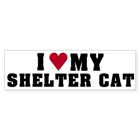 Love My Shelter Cat Bumper Sticker