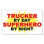 Trucker by Day Rectangle Sticker