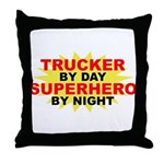 Trucker by Day Throw Pillow