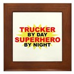 Trucker by Day Framed Tile