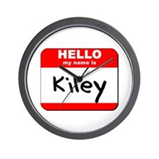 Hello my name is Kiley Wall Clock