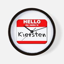 Hello my name is Kiersten Wall Clock