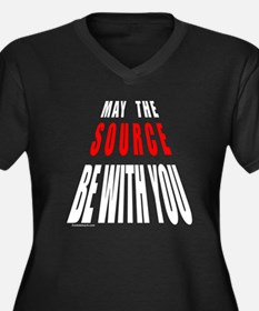 MAY THE SOURCE BE WITH YOU Women's Plus Size V-Nec