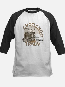 Choo-Choo Train Kids Baseball Jersey