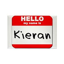 Hello my name is Kieran Rectangle Magnet
