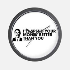 Spend Your Money Better Wall Clock