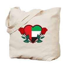 Heart UAE Tote Bag