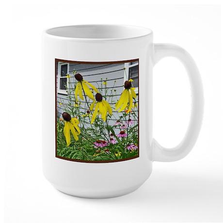 Yellow Coneflowers Large Mug