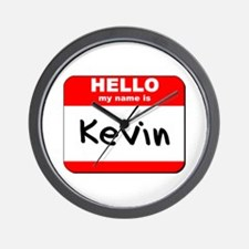 Hello my name is Kevin Wall Clock