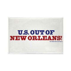 U.S. Out of New Orleans Rectangle Magnet (10 pack)
