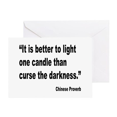 Light One Candle Chinese Proverb Greeting Card