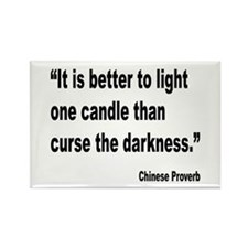 Light One Candle Chinese Proverb Rectangle Magnet