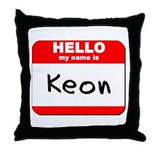 Hello my name is Keon Throw Pillow