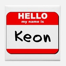 Hello my name is Keon Tile Coaster