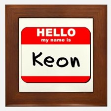 Hello my name is Keon Framed Tile