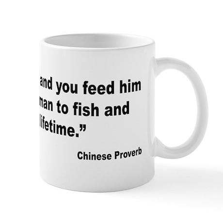 Teach Man to Fish Proverb Mug