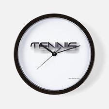 tennis black zh Wall Clock
