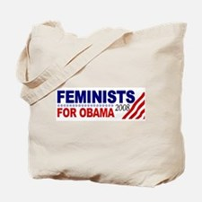 Feminists for Obama 2008 Tote Bag