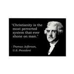 Jefferson Quote Rectangle Magnet (10 pack)