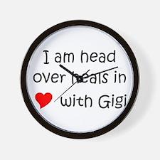 Cute Gigi name Wall Clock