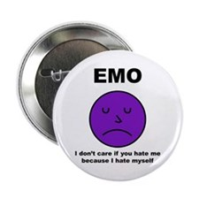 "Emo Frown 2.25"" Button"