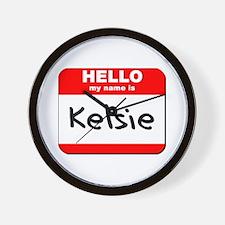 Hello my name is Kelsie Wall Clock