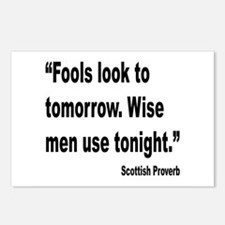 Wise Men Tonight Scottish Proverb Postcards (Packa