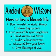 How to live a blessed life Tile Coaster