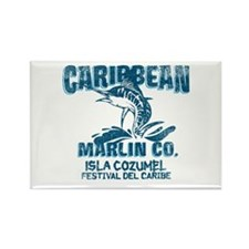 Caribbean Marlin Co. Rectangle Magnet