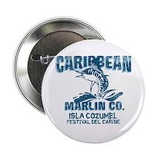 """Caribbean Marlin Co. 2.25"""" Button"""