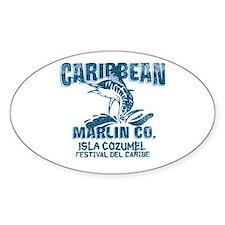 Caribbean Marlin Co. Oval Decal