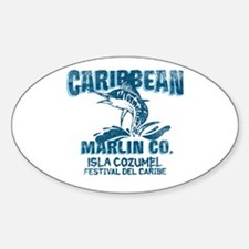Caribbean Marlin Co. Oval Decal