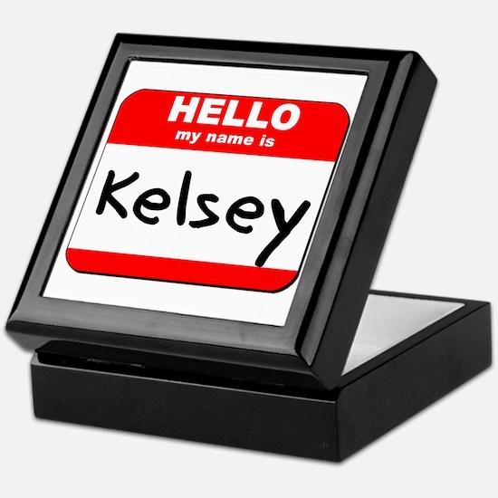Hello my name is Kelsey Keepsake Box