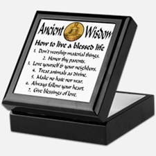 How to live a blessed life Keepsake Box