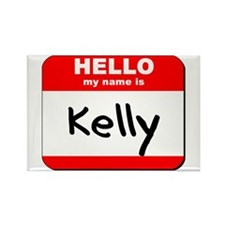 Hello my name is Kelly Rectangle Magnet