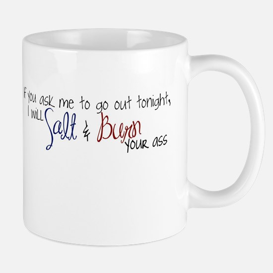 salt and burn Mugs