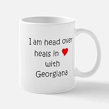 Funny I love georgiana Mug