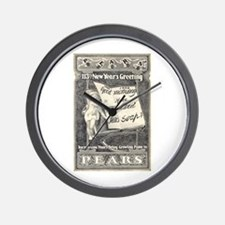 1902 New Years Greeting Wall Clock