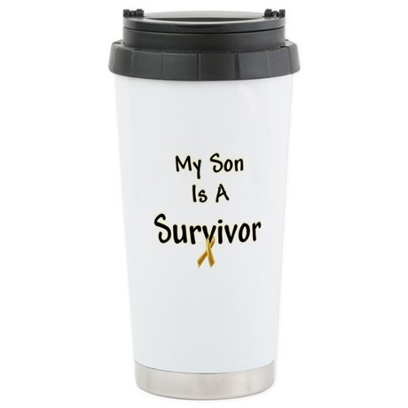 Childhood Cancer Stainless Steel Travel Mug