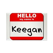 Hello my name is Keegan Rectangle Magnet