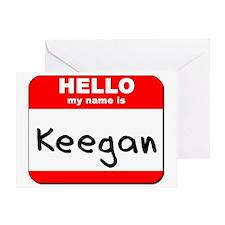 Hello my name is Keegan Greeting Card