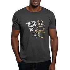 D-Lip Text Message(LOL) T-Shirt (Dark)