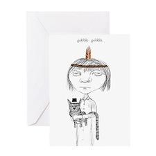 Gothic Girl Thanksgiving Greeting Card