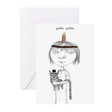 Gothic Girl Thanksgiving Greeting Cards (Pk of 10)