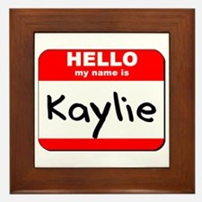 Hello my name is Kaylie Framed Tile
