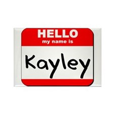 Hello my name is Kayley Rectangle Magnet