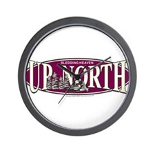 Up North Nortwoods Snowmobiler Wall Clock