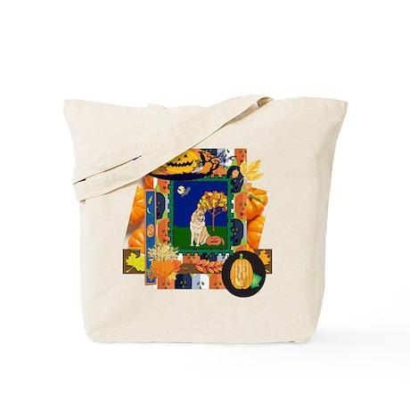 Scrapbook Husky Halloween Tote Bag