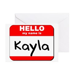 Hello my name is Kayla Greeting Cards (Pk of 10)