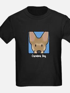 Anime Carolina Dog Kids Black TShirt
